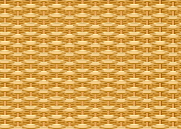 Naadloze gevlochten achtergrond. rieten stro. geweven wilgentakjes. rieten textuur