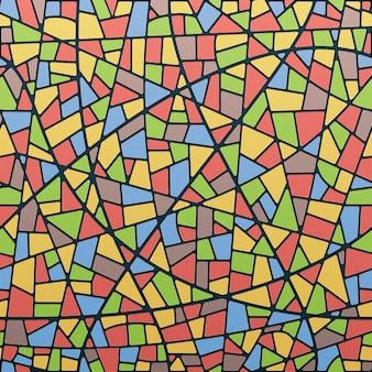 Naadloze glas-in-felle kleuren met licht en schaduw
