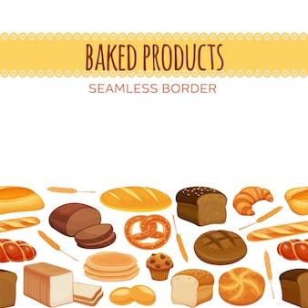 Naadloze grens met brood