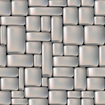 Naadloze grijze gladde stenen muur