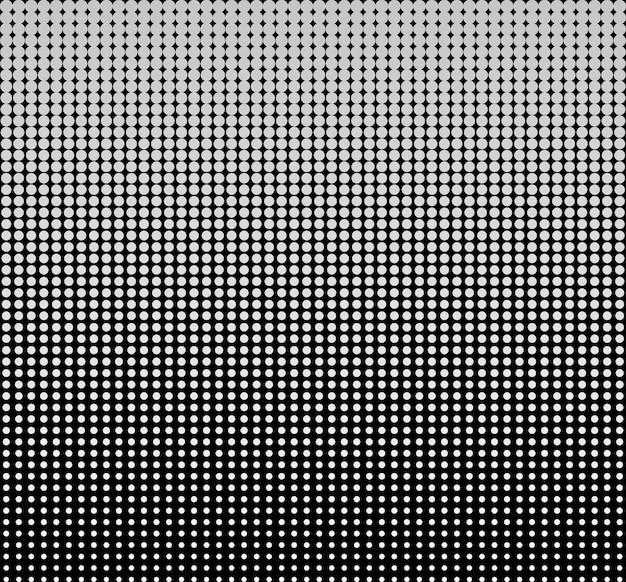 Naadloze halftone cirkel stippen abstract vector achtergrond of textuur voor ontwerpsjabloon