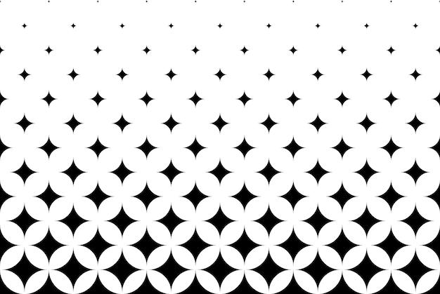 Naadloze halftone vector achtergrond. gevuld met zwarte ruiten. korte fade-out. 13 figuren in hoogte.