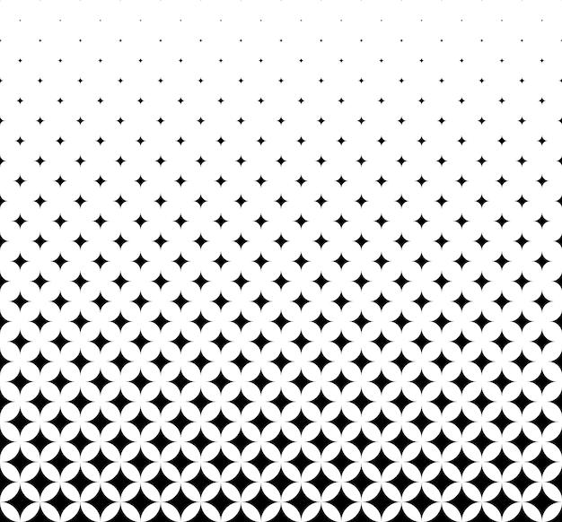 Naadloze halftone vector achtergrond. gevuld met zwarte ruiten. midden vervagen. 27 figuren in hoogte.
