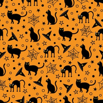 Naadloze halloween festival vector patroon