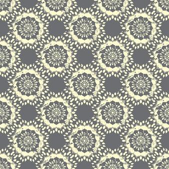 Naadloze hand getekend mandala patroon. vintage elementen in oosterse stijl met grunge effect.