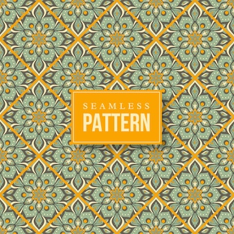 Naadloze hand getekend mandala patroon. vintage elementen in oosterse stijl.