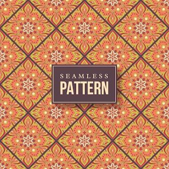 Naadloze hand getrokken mandala patroon. vintage elementen in oosterse stijl.