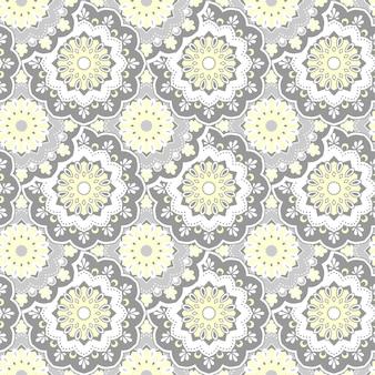 Naadloze handgetekende mandala patroon vintage decoratieve elementen Gratis Vector