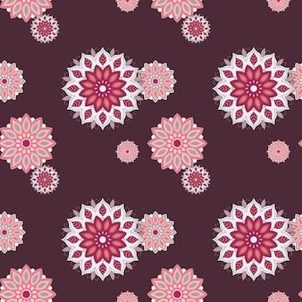 Naadloze handgetekende mandala patroon vintage decoratieve elementen