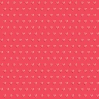Naadloze harten polka dot rood patroon