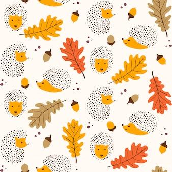 Naadloze herfst patroon ontwerp