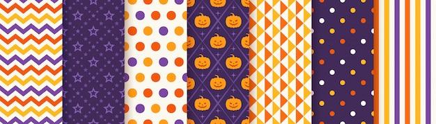 Naadloze het patroonreeks van halloween
