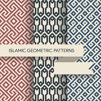 Naadloze islamitische geometrische patronen collectie