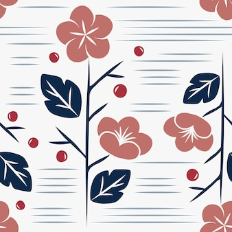 Naadloze japanse stijl bloemmotief