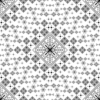 Naadloze kerst sier abstract patroon geometrisch