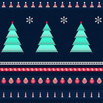 Naadloze kerst thema patroon achtergrond.