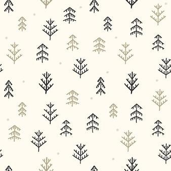 Naadloze kerstboom patroon