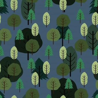 Naadloze kleine bomen herfst