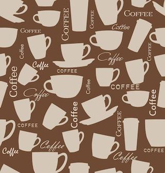 Naadloze koffieachtergrond