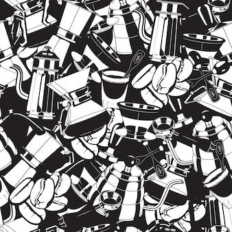 Naadloze koffiezetapparaat hulpmiddelen patroon