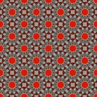 Naadloze mandala patroon vintage elementen in oosterse stijl te