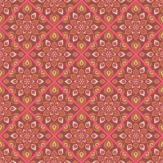 Naadloze mandala patroon. vintage elementen in oosterse stijl.
