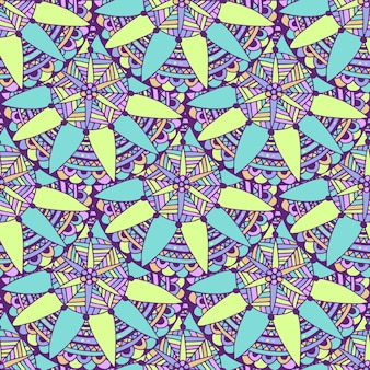 Naadloze mandalaachtergrond in vector. tribaal etnisch patroon