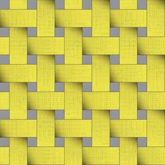 Naadloze moderne gele rasterillustratie