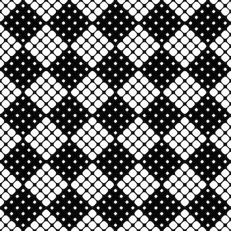 Naadloze monochrome abstracte afgeronde vierkante patroonachtergrond