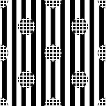 Naadloze monochrome eenvoudige stip patroon op streep achtergrond