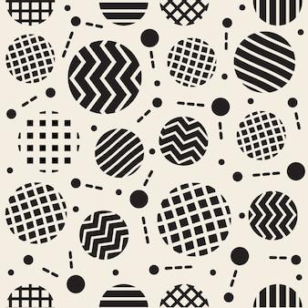 Naadloze monochrome mix stripe dot patroon achtergrond als een ster