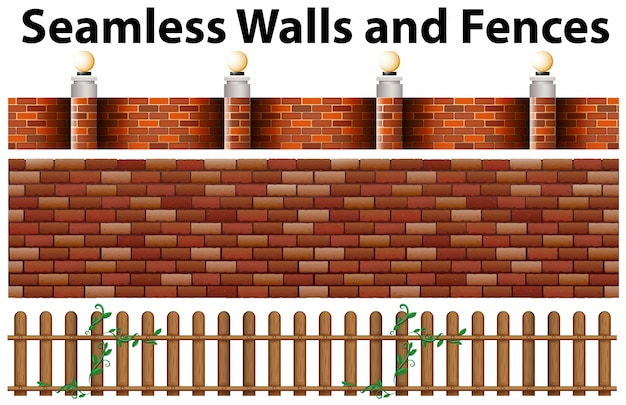 Naadloze muren en hekken ontwerp