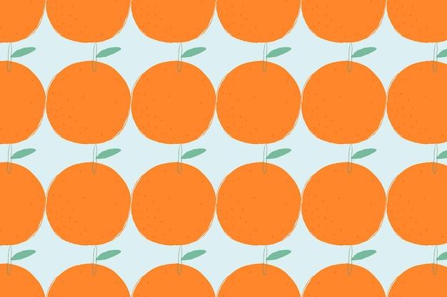 Naadloze oranje patroon pastel achtergrond