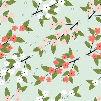 Naadloze pastel bloemen oppervlakte patroon achtergrond