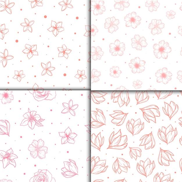 Naadloze patronen met bloemen