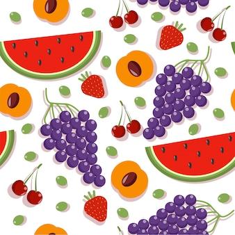 Naadloze patronen met fruit