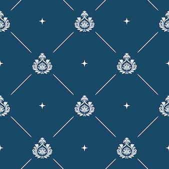 Naadloze patroon achtergrond barok. vintage behang