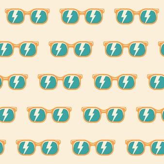 Naadloze patroon achtergrond zonnebril met kleur, vintage zonnebril patroon