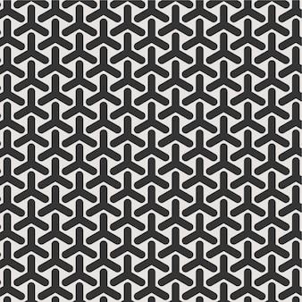 Naadloze patroon achtergrondluxe zwart-wit voor behangtextuur