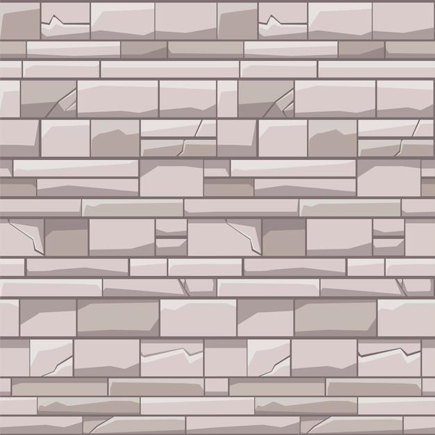 Naadloze patroon bakstenen stenen muur