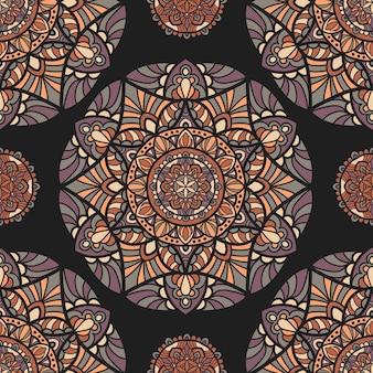 Naadloze patroon behang mandala vector ontwerp voor afdrukken. tribal ornament.