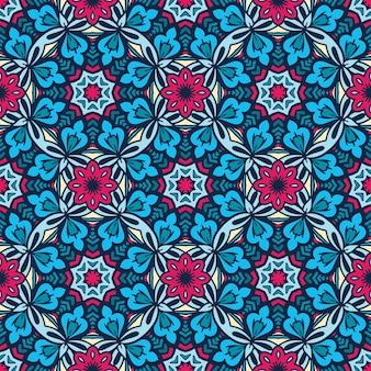 Naadloze patroon bloem kleurrijke etnische print