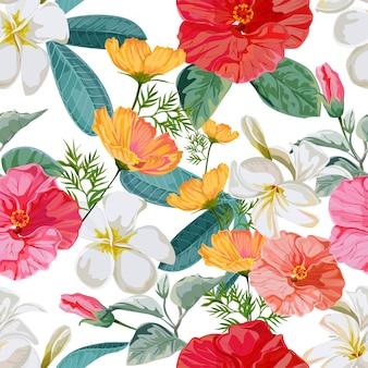 Naadloze patroon bloemen vectorillustratie