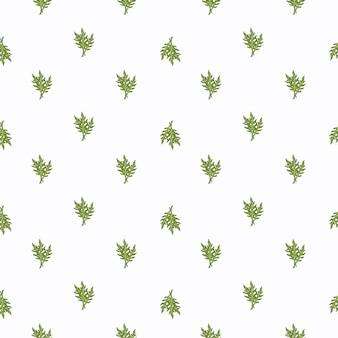 Naadloze patroon bos rucola salade op witte achtergrond. minimalistisch ornament met sla.