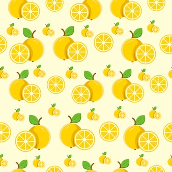 Naadloze patroon citroen