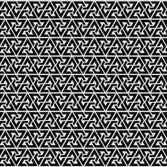 Naadloze patroon driehoek stijl. modern zwart-wit behang