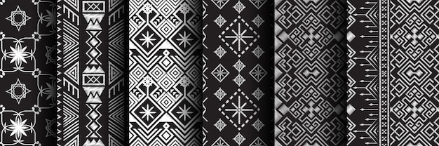 Naadloze patroon etnische set