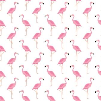 Naadloze patroon, flamingo kunst achtergrondontwerp voor stof en decor. vector, illustratie