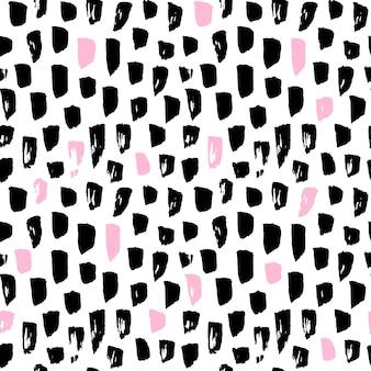 Naadloze patroon funky verf vlekken. vectorillustratie van 80s stijl tegel hipster achtergrond.