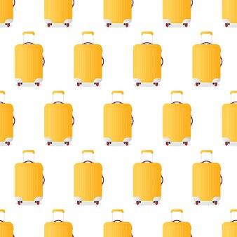 Naadloze patroon gele koffer